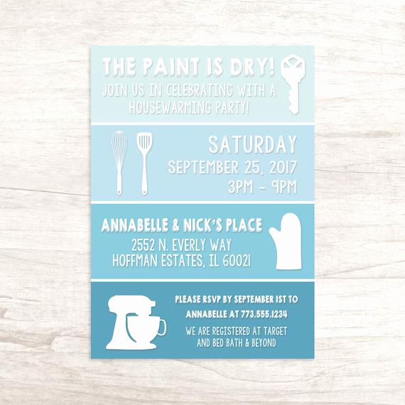 Funny Housewarming Invitation Wording Inspirational Fun Paint Swatch Housewarming Invitation
