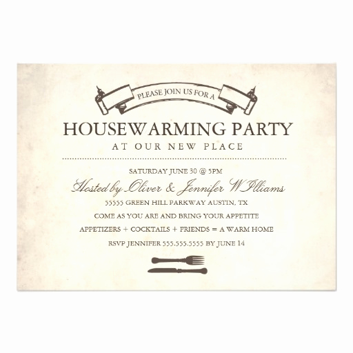 "Funny Housewarming Invitation Wording Inspirational Fun Vintage Housewarming Party Invite 5"" X 7"" Invitation"