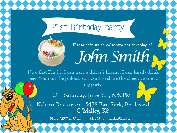 Funny Party Invitation Wording Beautiful 21st Birthday Invitations 365greetings