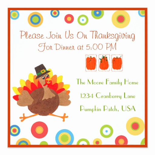 Funny Thanksgiving Invitation Wording Awesome Funny Turkey Thanksgiving Dinner Invitation