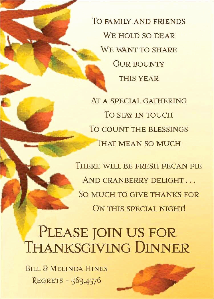 Funny Thanksgiving Invitation Wording Beautiful Thanksgiving Invitations Thanksgiving