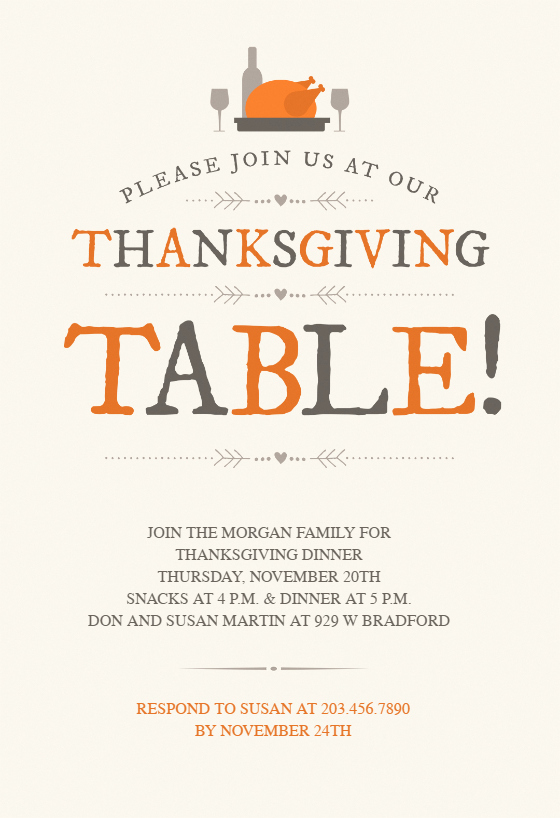 Funny Thanksgiving Invitation Wording Beautiful Thanksgiving Table Thanksgiving Invitation Template