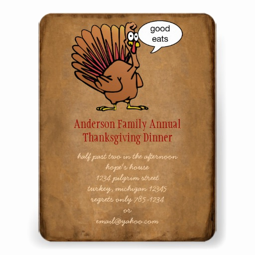 Funny Thanksgiving Invitation Wording Fresh Funny Thanksgiving Dinner Invitation