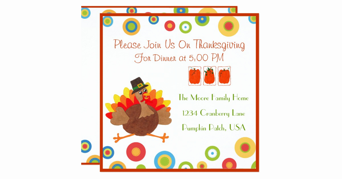 Funny Thanksgiving Invitation Wording New Funny Turkey Thanksgiving Dinner Invitation