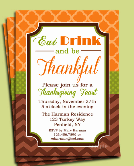 Funny Thanksgiving Invitation Wording Unique Sample Thanksgiving Dinner Invitations – Festival Collections