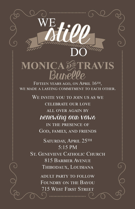 Funny Vow Renewal Invitation Wording Best Of Vow Renewal Marriage Blessing Invitation Piy File Vow