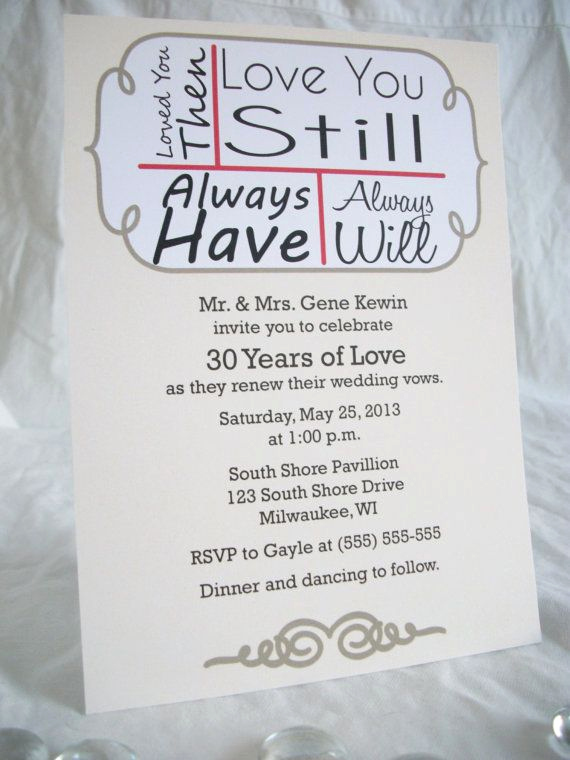 Funny Vow Renewal Invitation Wording Lovely 70 Love You Still Vow Renewal Invitations