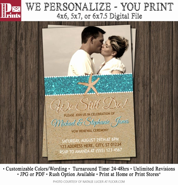 Funny Vow Renewal Invitation Wording Lovely Beach Vow Renewal Invitation Wedding Vow Renewal by