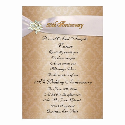 Funny Vow Renewal Invitation Wording Luxury 50th Anniversary Vow Renewal Invitation