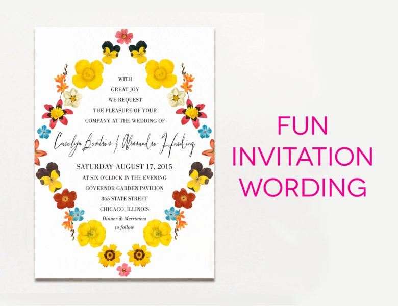 Funny Wedding Invitation Wording Awesome 15 Wedding Invitation Wording Samples From Traditional to Fun