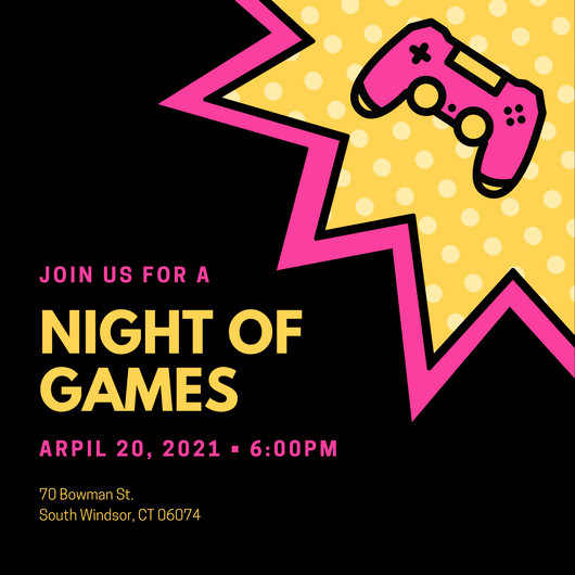 Game Night Invitation Template Best Of Game Night Birthday Invitation Card Templates by Canva