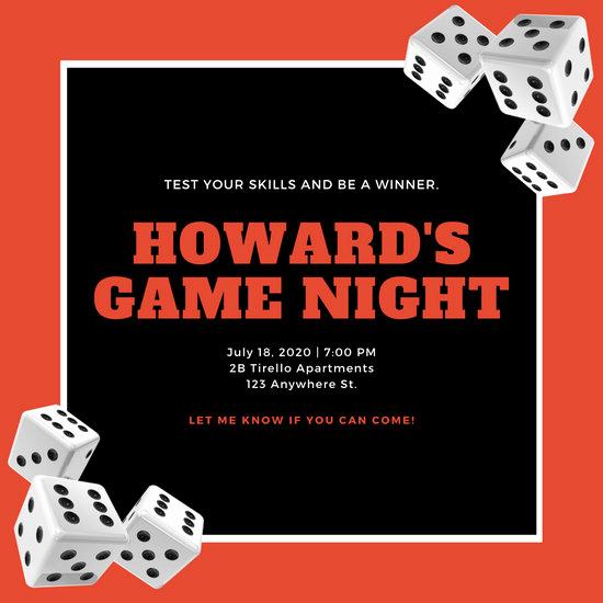 Game Night Invitation Template Elegant Customize 248 Game Night Invitation Templates Online Canva