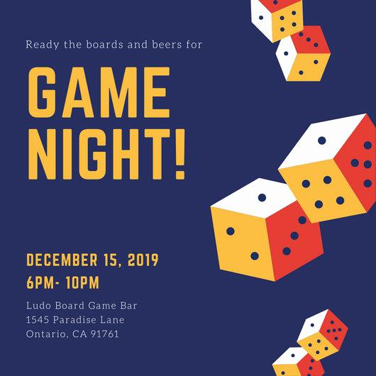 Game Night Invitation Template Elegant Customize 756 Game Night Invitation Templates Online Canva