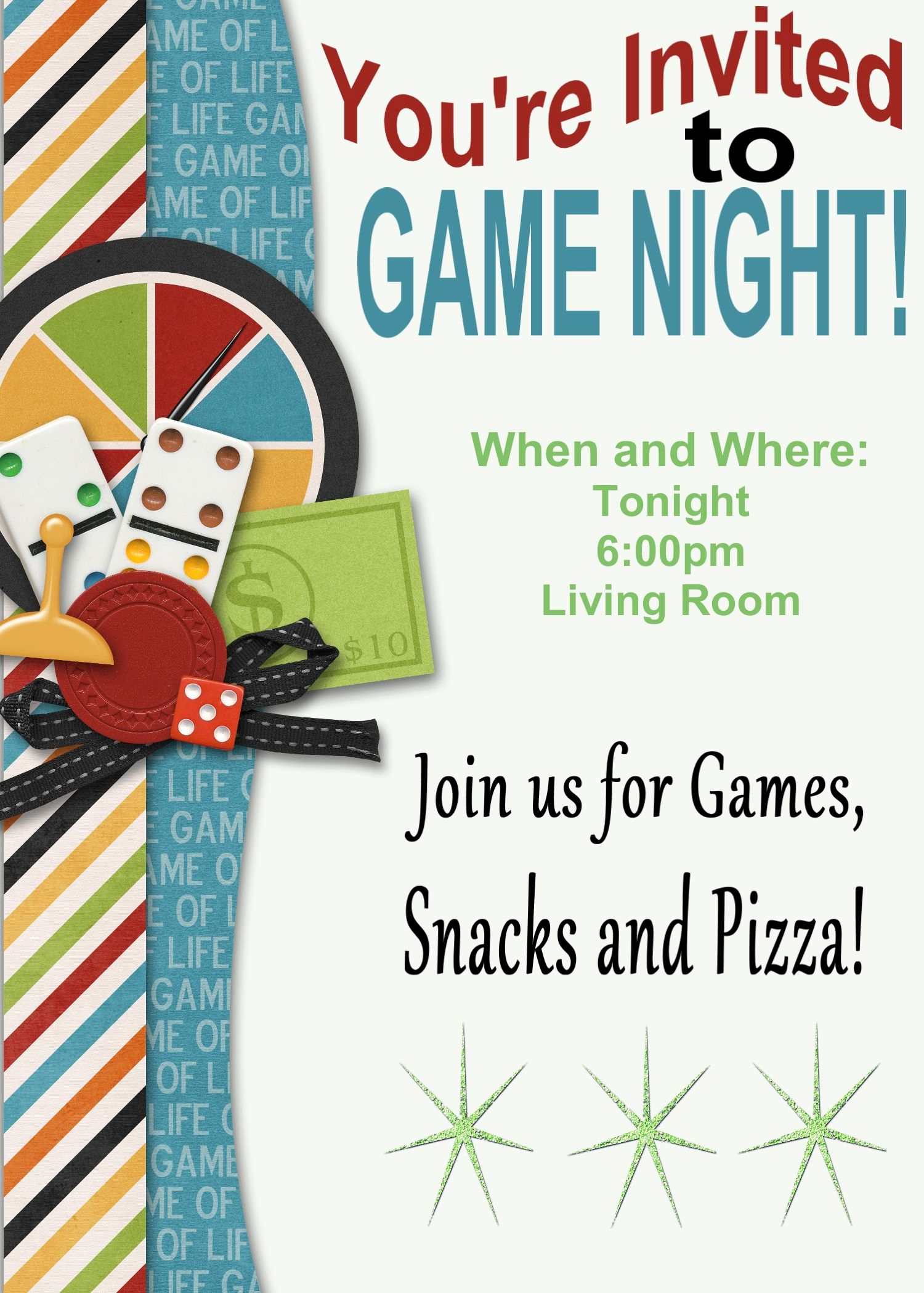 Game Night Invitation Template Fresh Game Night Printable Invitation and Game Review