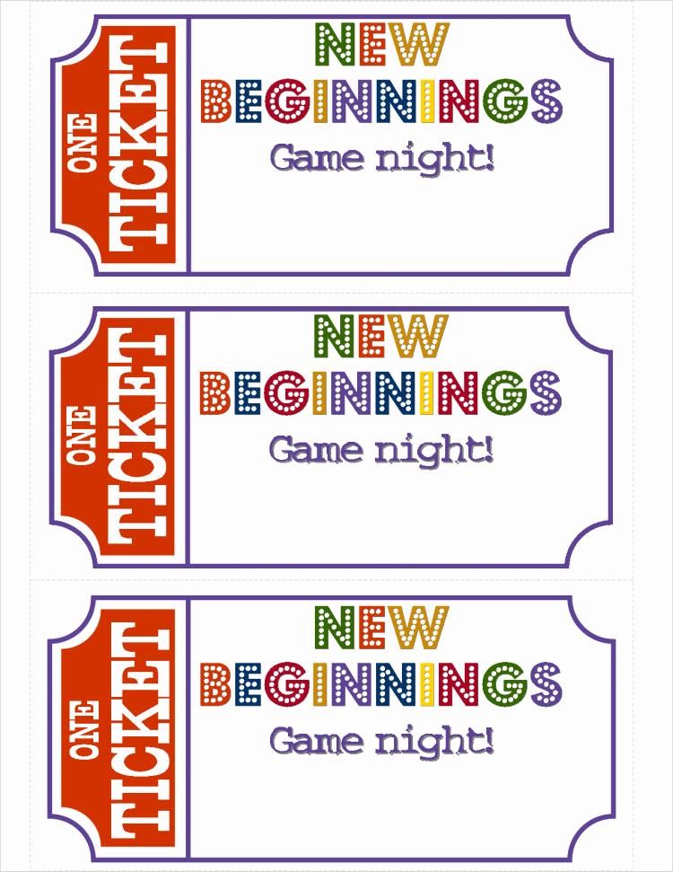 Game Night Invitation Template Fresh New Beginnings Game Nightburlap & Denim