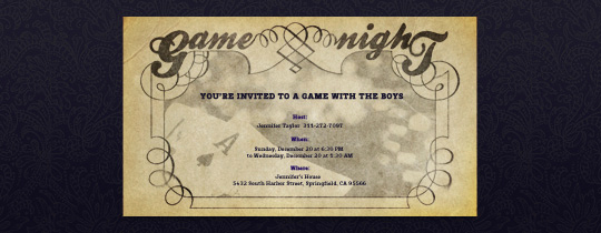 Game Night Invitation Template Lovely Game Night Free Online Invitations