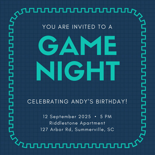 Game Night Invitation Template Lovely orange Game Night Invitation Templates by Canva