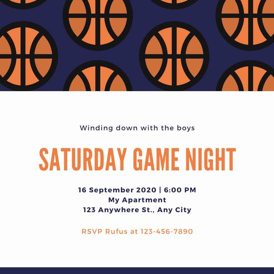 Game Night Invitation Template Luxury Customize 203 Game Night Invitation Templates Online Canva