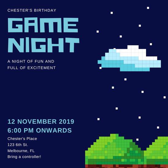 Game Night Invitation Template Luxury Customize 207 Game Night Invitation Templates Online Canva