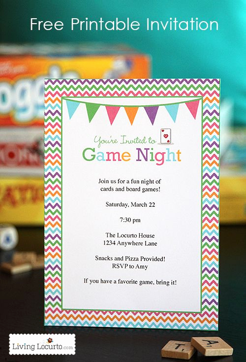 Game Night Invitation Wording Awesome Best 25 Free Printable Party Ideas On Pinterest