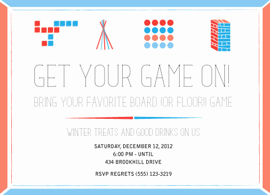 Game Night Invitation Wording Beautiful Party Invitations Game Night at Minted