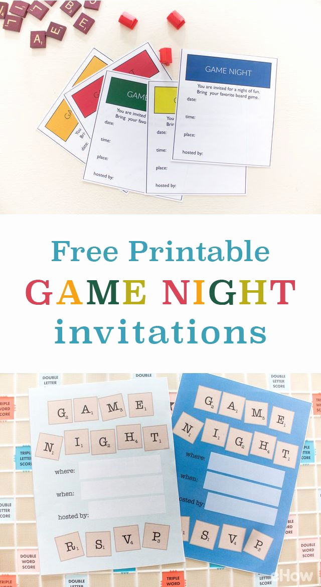 Game Night Invitation Wording Inspirational Game Night Invitations Creative Free Printables for You