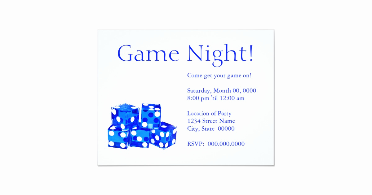 Game Night Invitation Wording Lovely Game Night Invitations