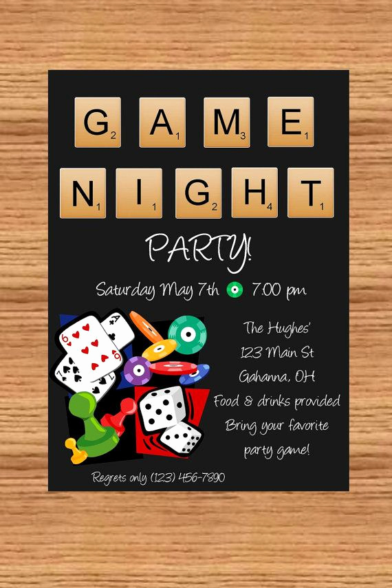 Game Night Invitation Wording Unique Best 25 Game Night Parties Ideas On Pinterest