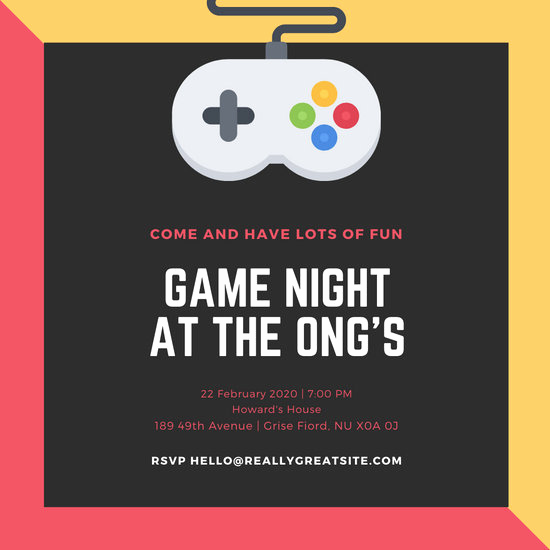 Game Night Invitation Wording Unique Customize 249 Game Night Invitation Templates Online Canva