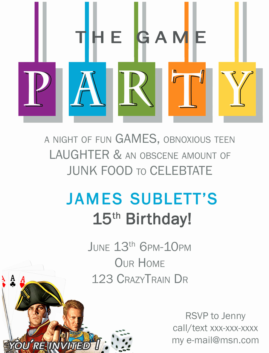Game Night Invitation Wording Unique Free Game Night Printable Invite Paint Yourself A Smile