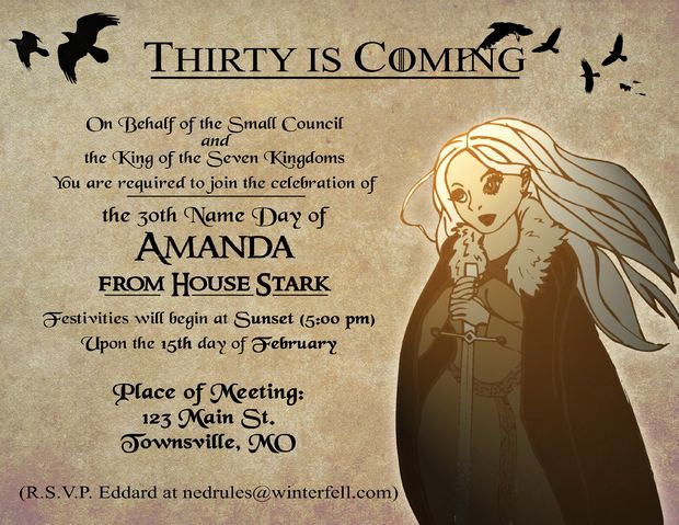 Game Of Thrones Invitation Awesome Game Of Thrones Party