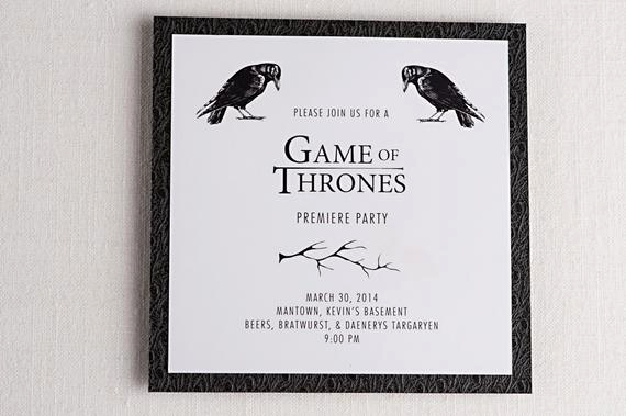 Game Of Thrones Invitation Beautiful Game Of Thrones Inspired Premiere Party Invitations Tv Show