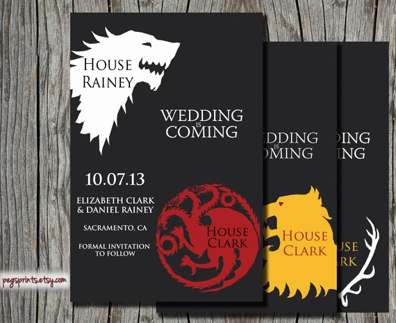 Game Of Thrones Invitation Best Of Game Of Thrones Save the Date Printable Wedding by Pegsprints