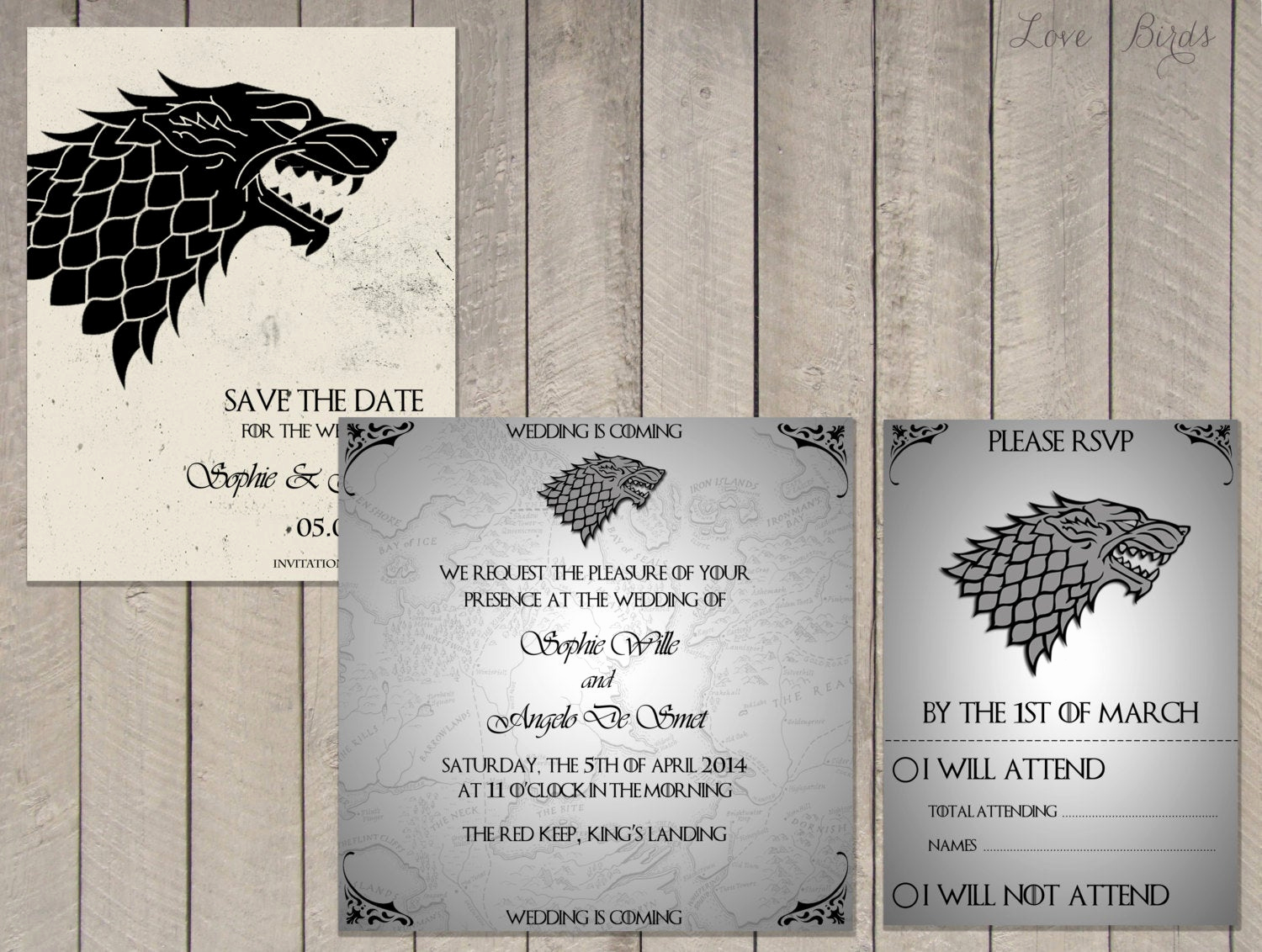 Game Of Thrones Invitation Elegant Wedding Invitation Set Game Of Thrones House Stark Save the