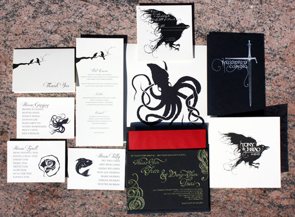 Game Of Thrones Invitation Luxury tony Hsiao S Game Of Thrones Wedding Invitations