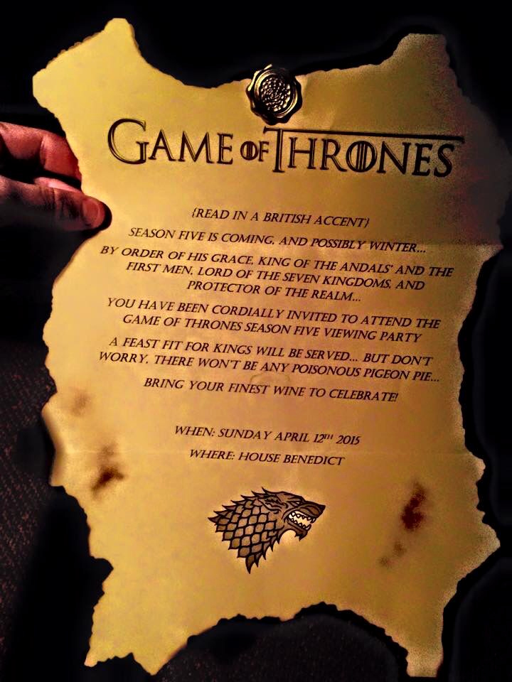 Game Of Thrones Party Invitation Elegant Best 25 Game Of Thrones Birthday Ideas On Pinterest