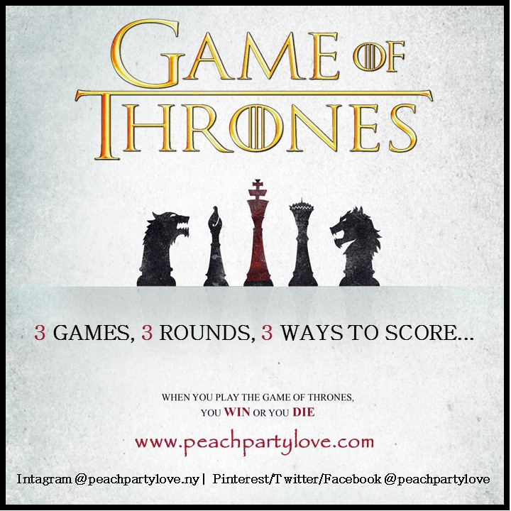 game of thrones watch party ideas games