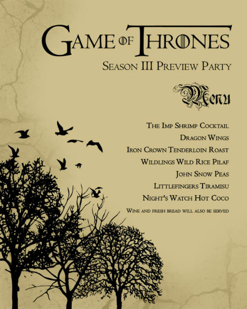 "Game Of Thrones Party Invitation Lovely 21 Ways to Up Your ""game Thrones"" Finale Party"