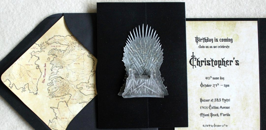 Game Of Thrones Party Invitation New Game Of Thrones theme Birthday Party Invitations – Tanja