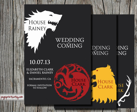 Game Of Thrones Party Invitation Unique 8 Save the Date Cards Perfect for A Geek Wedding