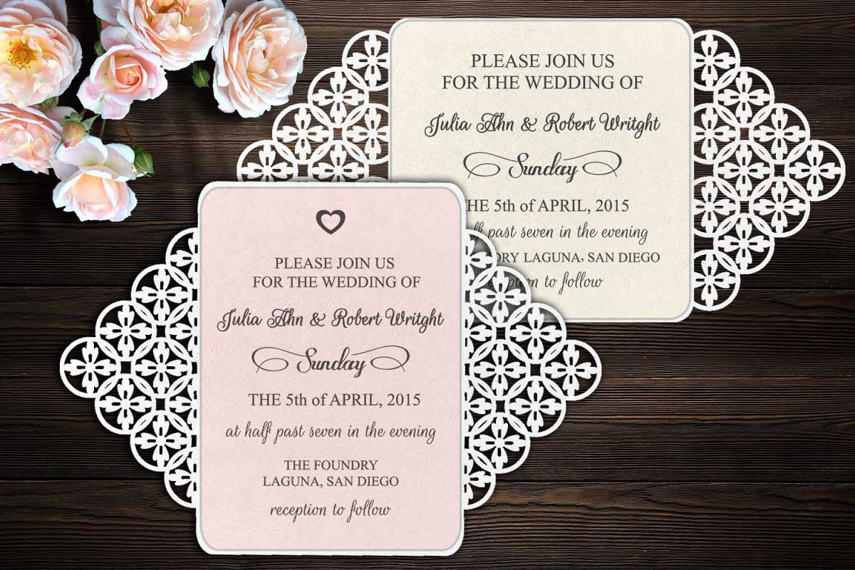 Gate Fold Invitation Template Beautiful Rustic Gate Fold Wedding Invitation Template Svg Dxf Laser