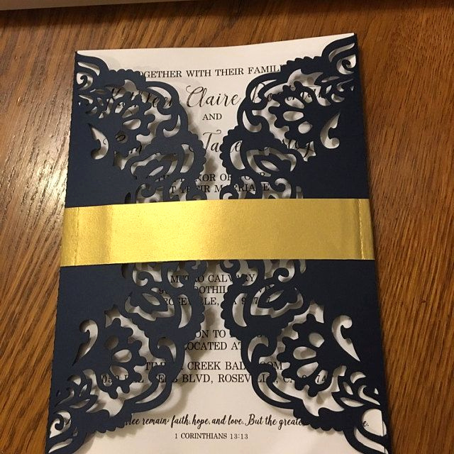 Gate Fold Invitation Template Best Of Gate Fold Wedding Invitation Laser Cut Pattern Card