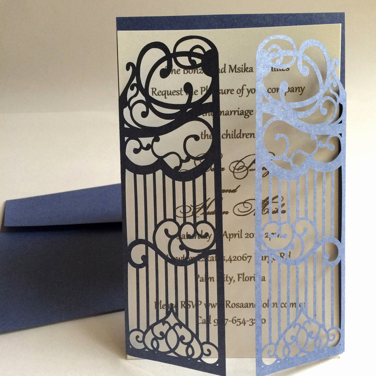 Gate Fold Invitation Template Fresh Lace Wedding Invitations Free Shipping