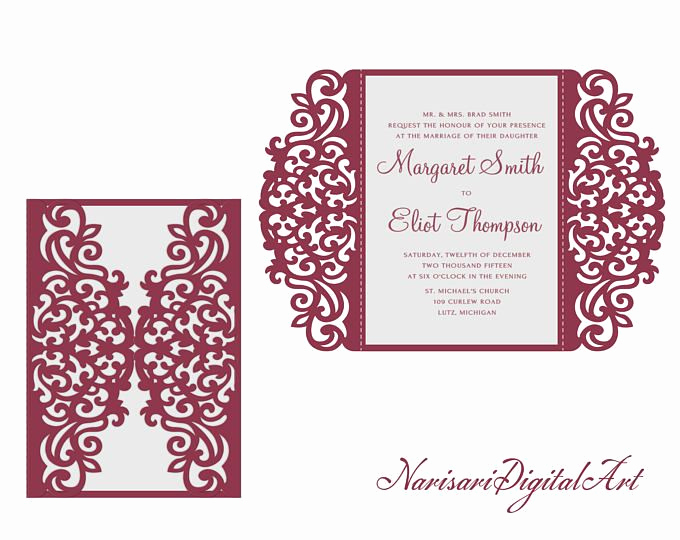 Gate Fold Invitation Template Luxury Pin En Helana S Wedding Invitations
