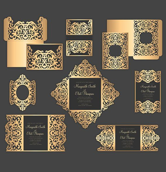 Gate Fold Invitation Template Unique Set Laser Cut Wedding Invitation Templates Gate Fold Card