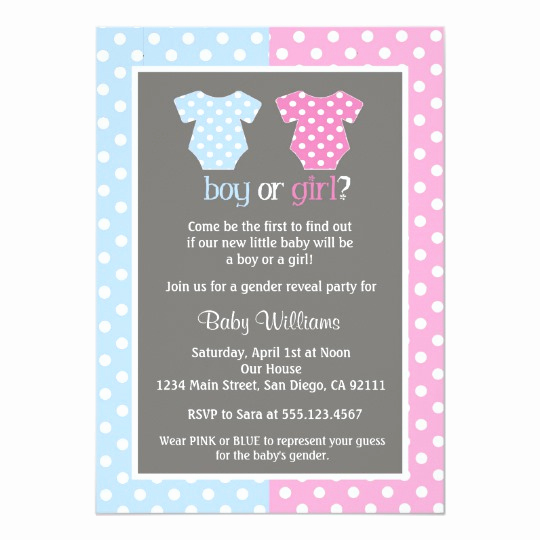 Gender Reveal Invitation Ideas Best Of Gender Reveal Party Baby Shower Invitations