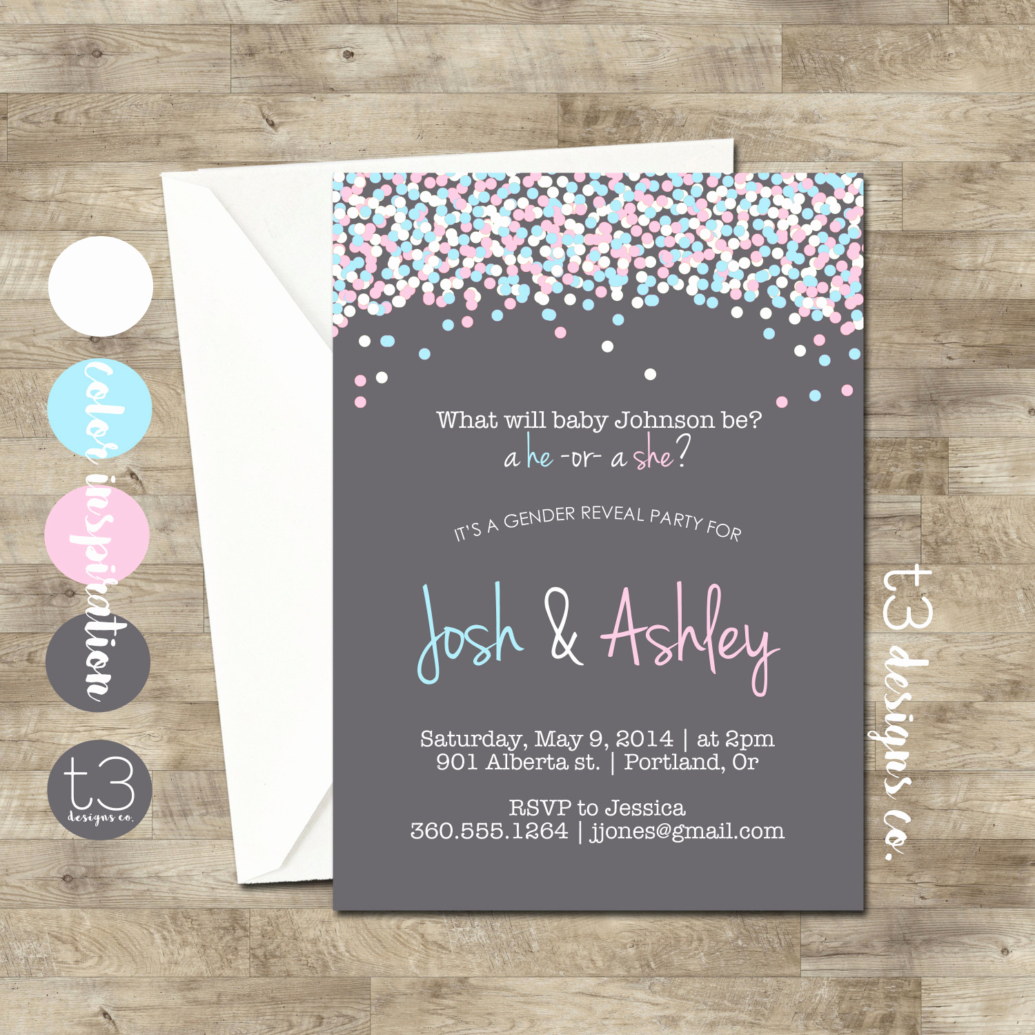 Gender Reveal Invitation Ideas Luxury Gender Reveal Invitation Confetti Gender Reveal Party