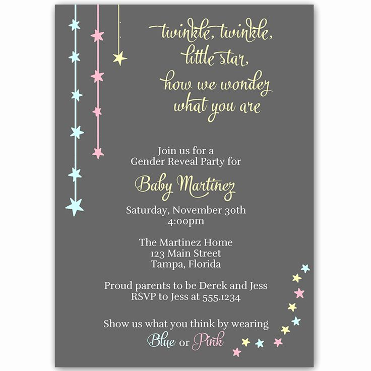 Gender Reveal Invitation Ideas New Best 25 Gender Reveal Party Invitations Ideas On
