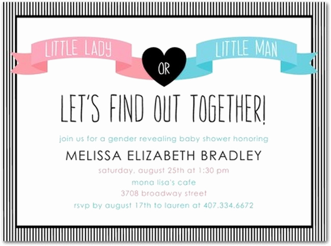 Gender Reveal Invitation Ideas New Samples Gender Reveal Party Invitations