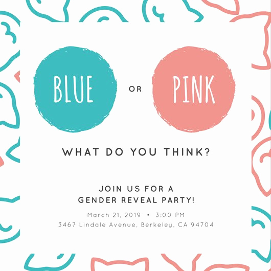 Gender Reveal Invitation Template Awesome Customize 29 Gender Reveal Invitation Templates Online